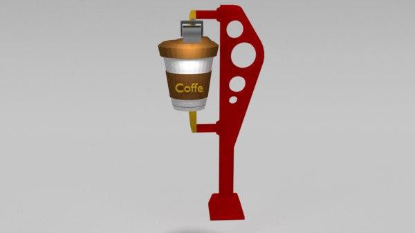 outdoor coffe 3D model