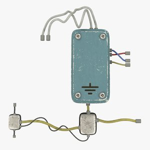 3D model switchboard wires