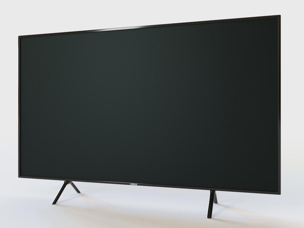 realistic samsung tv 3D model
