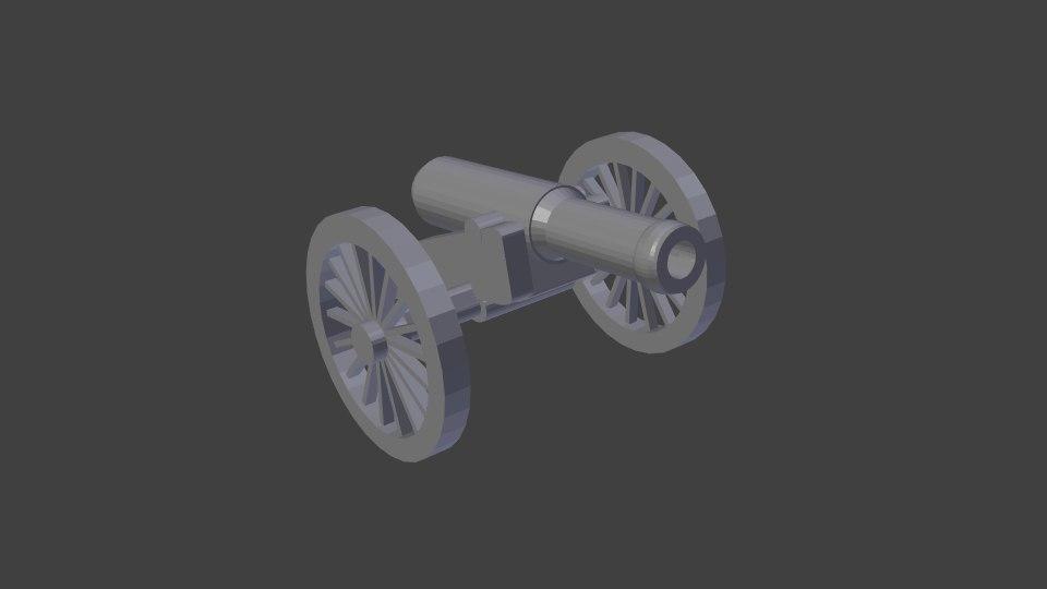 keychain cannon napoleonic model