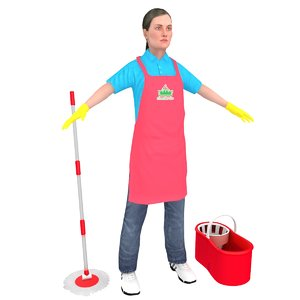 3D maid female bucket