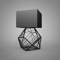 black modern lamp model