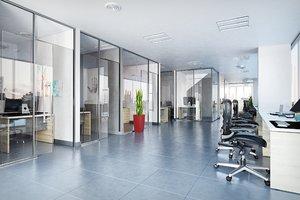 3D modern office design model