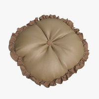 3D model cushion leather light 01