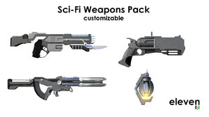 sci-fi weapon pack 3D
