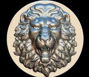 lion mask maschera leone 3D