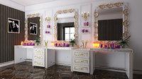 3D hair salon parfumery furniture model