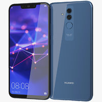 3D realistic huawei mate 20 model