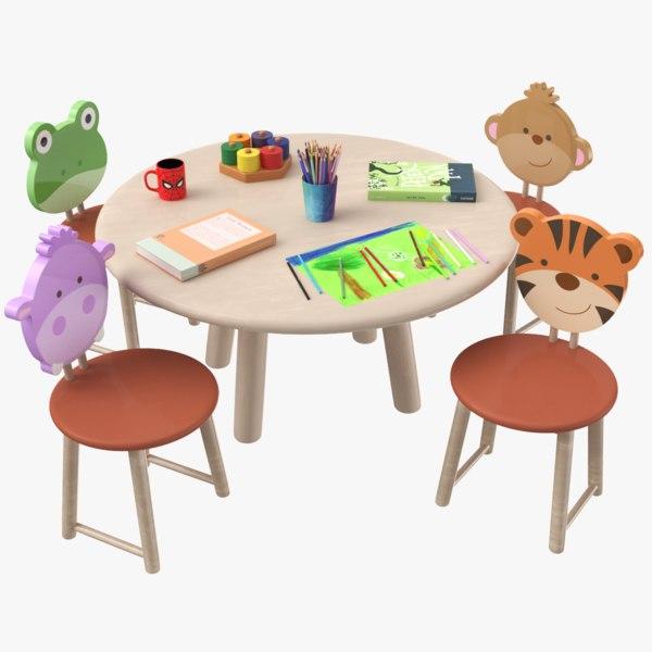 kids table 3D