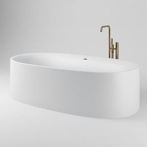 3D modern bathtub sabbia vola