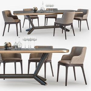 cattelan italia planer table 3D model