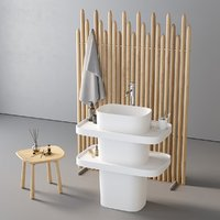 Washbasin Rexa Design Fonte Totem set 4