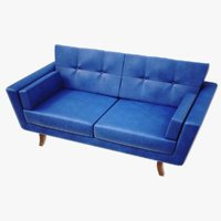 lightwave sofa krokusar 3D model