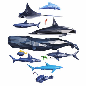 3D sea creatures