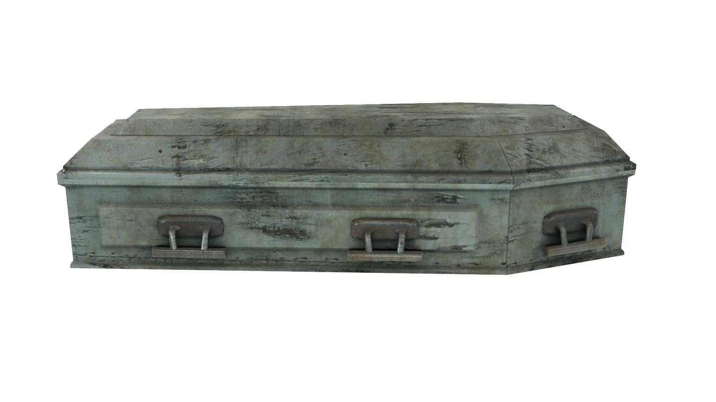 vintage coffin materials 3D model