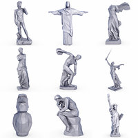 popular sculptures statue set 3D