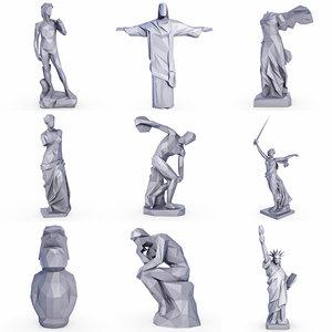 popular sculptures statue set 3D