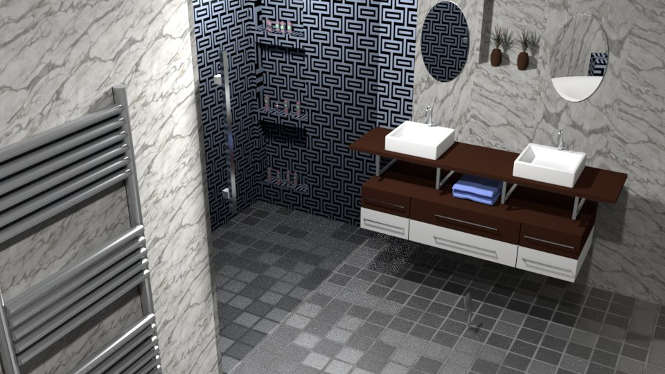 modern bathroom interior model