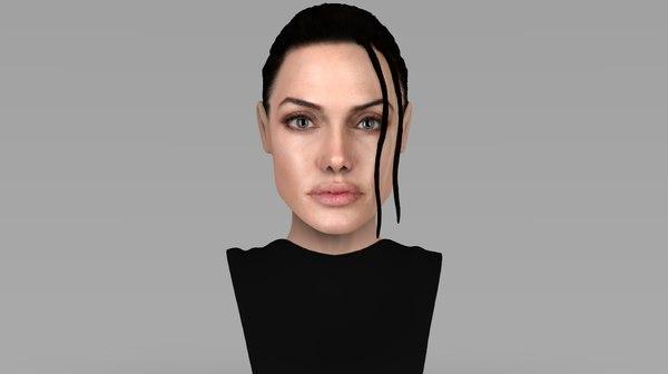 lara croft angelina jolie 3D