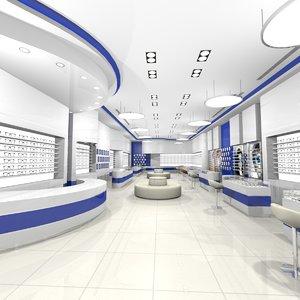 optical shop 3D model