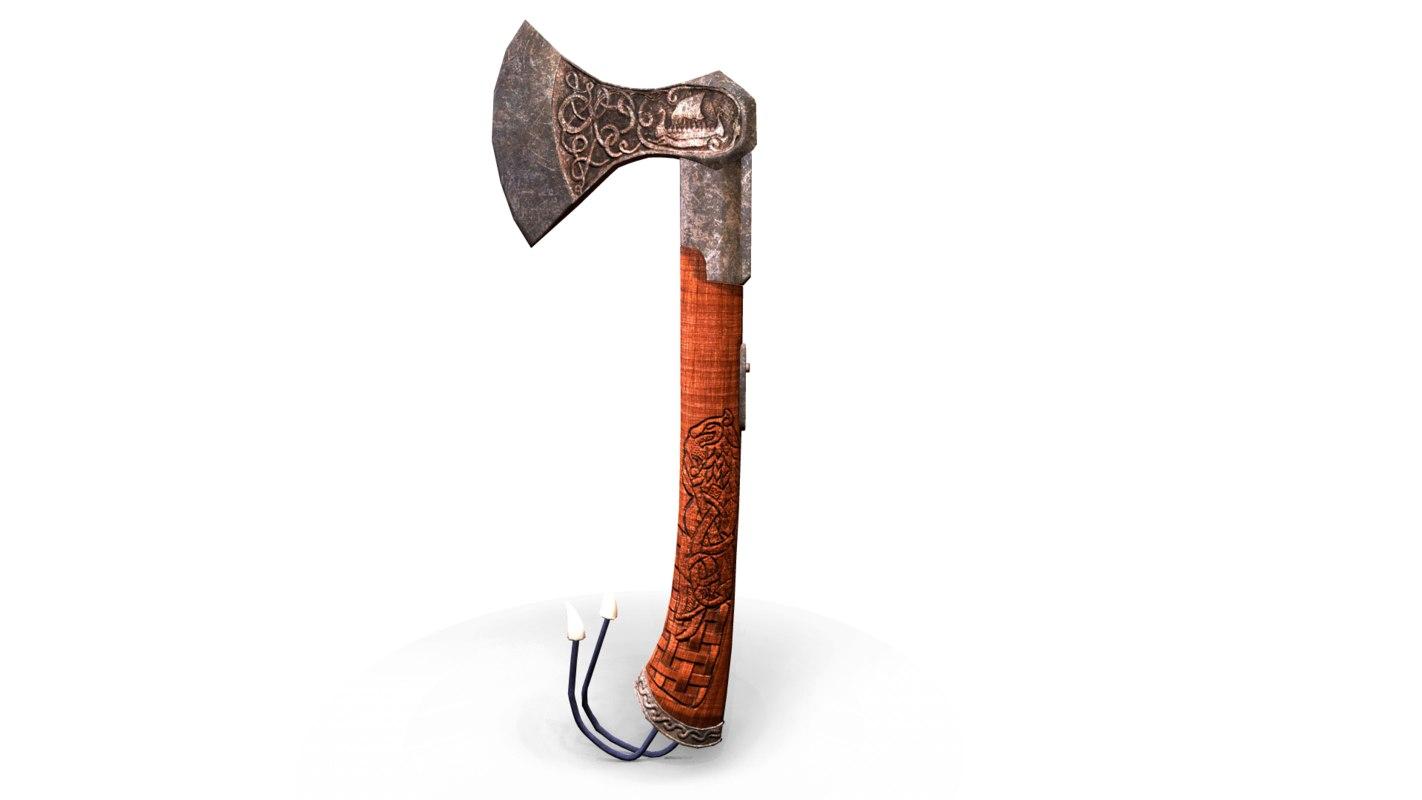 3D viking axe model