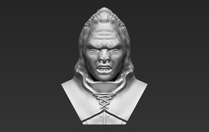 lurtz lord rings bust 3D