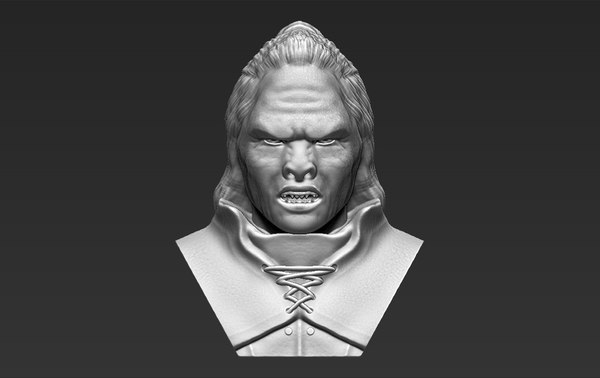 lurtz lord rings bust 3D