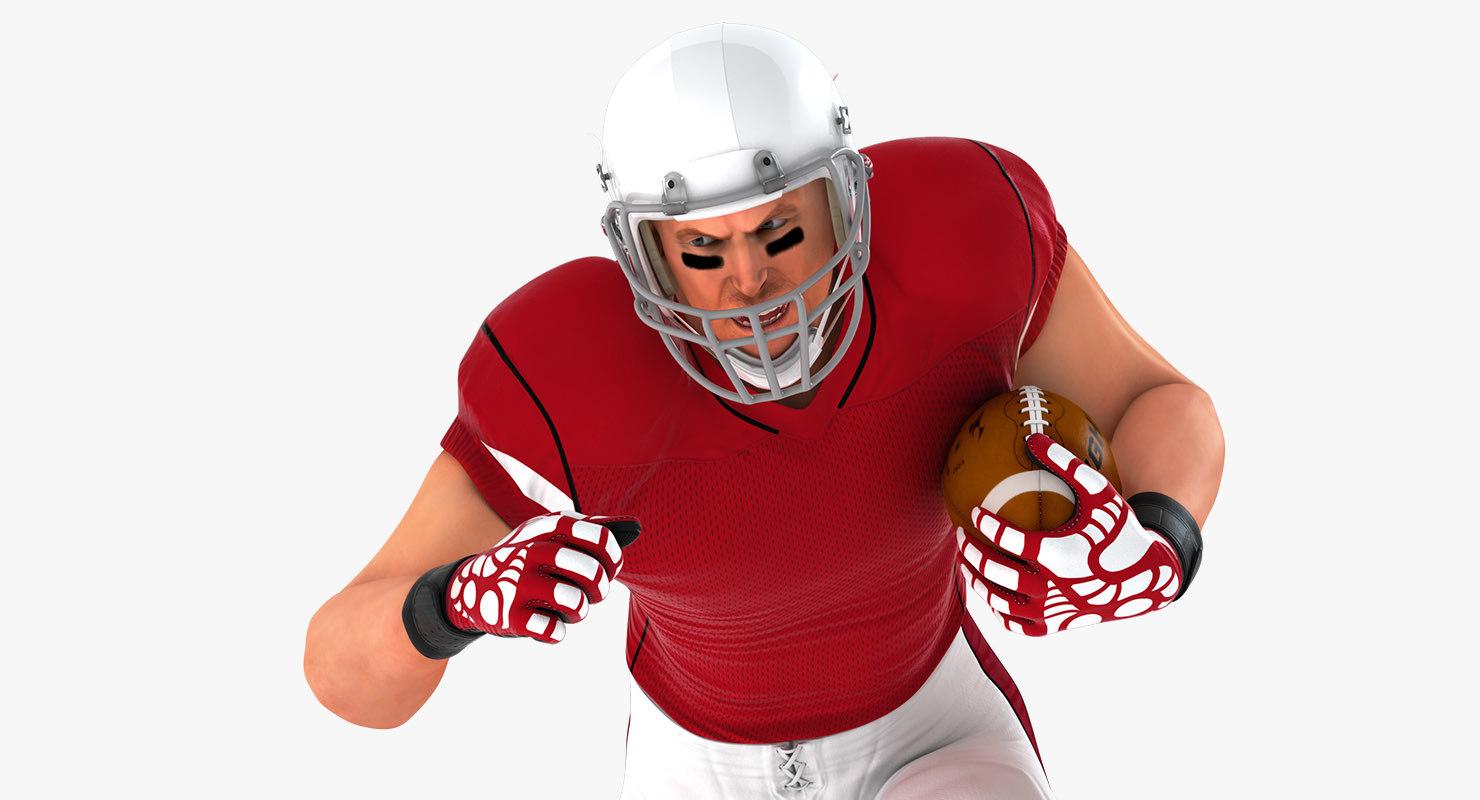 3D model football american