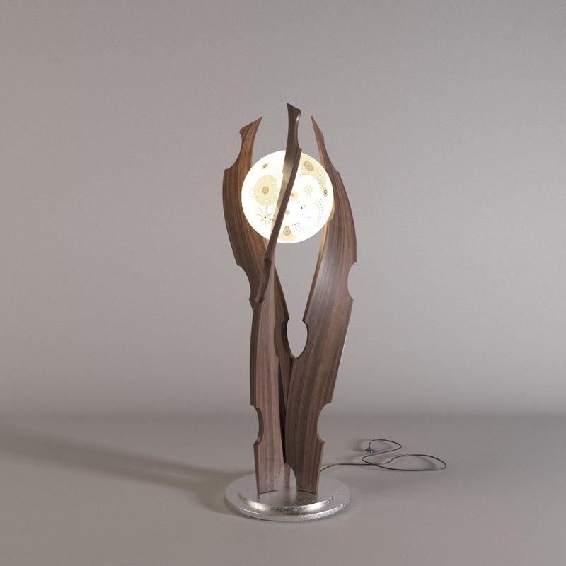 3D lamp wood