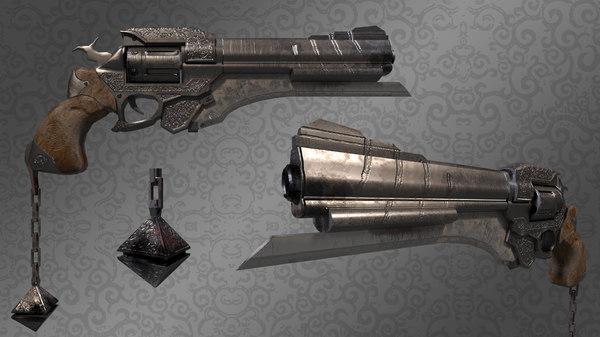 fantasy hand cannon 3D
