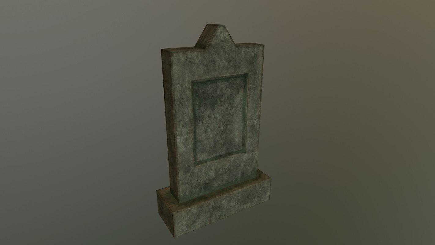 3D grave 1 pbr