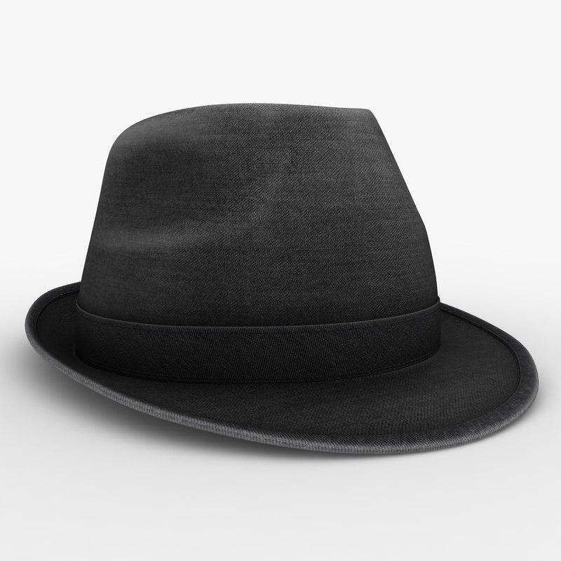 realistic hat 2 3D model