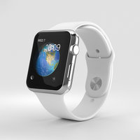 Apple Watch Series 2 42mm Stainless Steel Case White Sport Band