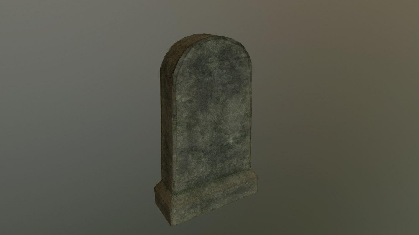 3D model grave 2 - pbr