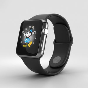 3D apple watch space