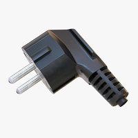 3D power plug model