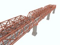 raiway bridge 3D model