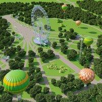park corona 3D model