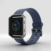 3D model fitbit blaze blue