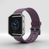 fitbit blaze plum 3D model