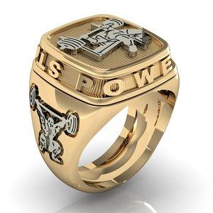 3D mans ring power strength