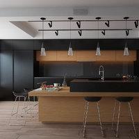 3D kitchen anthracite
