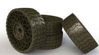 airless tyre 3D model