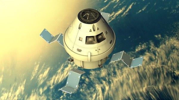satellite rocket 3D model