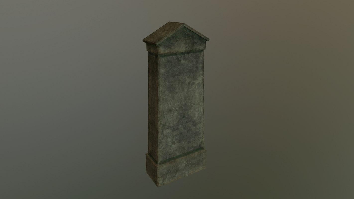 grave 3 - pbr 3D model