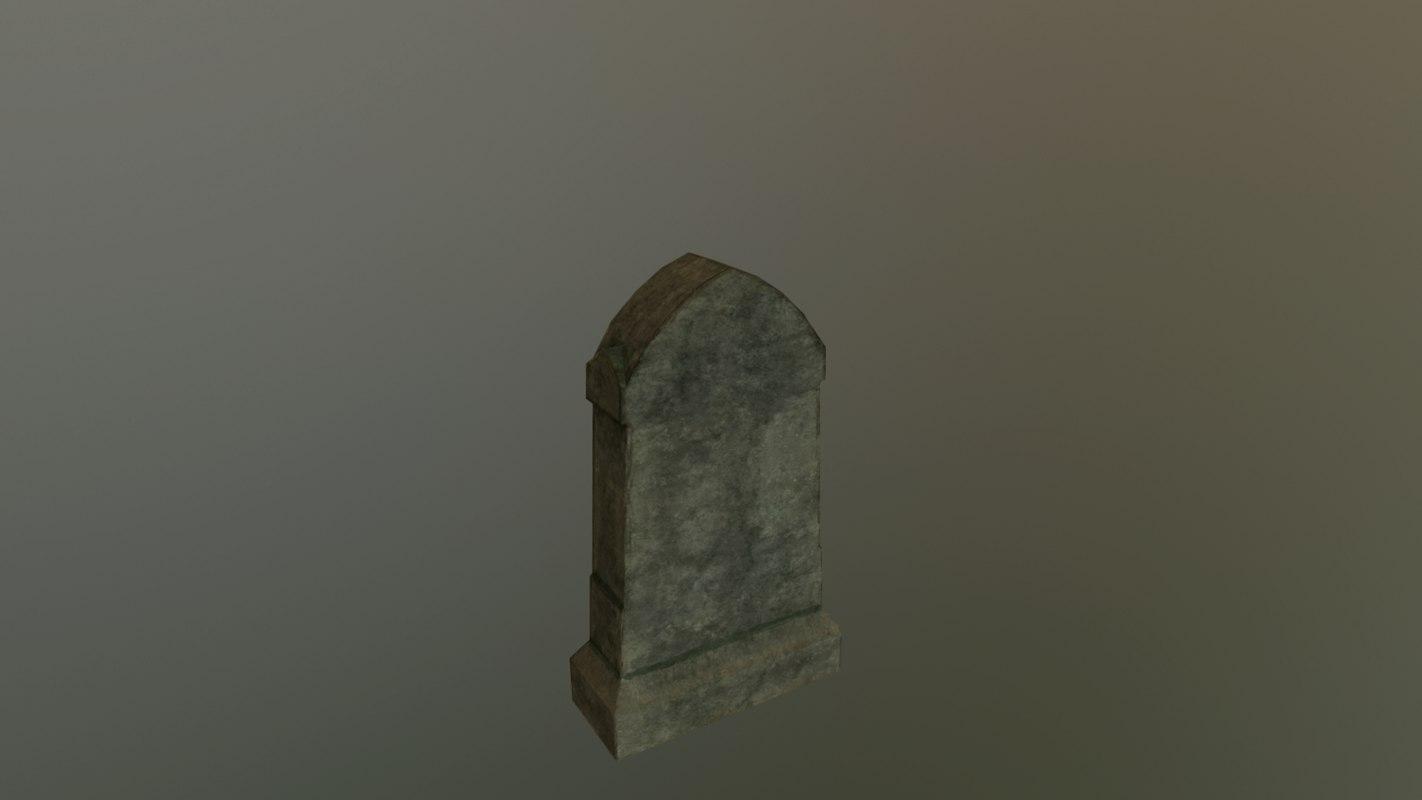 3D grave 4 - pbr
