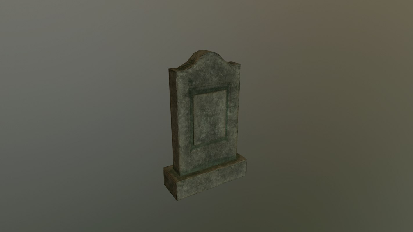 grave 5 - pbr 3D model