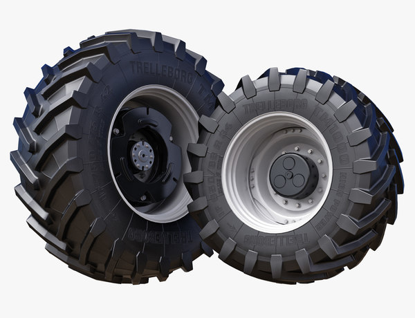 3D tractor wheels trelleborg 650