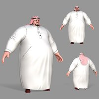 fat arab 3D