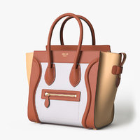 celine luggage handbag colored 3D model